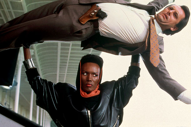 Grace Jones als Bond-schurk May Day