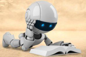 De uitgever kiest voor de lezende robot